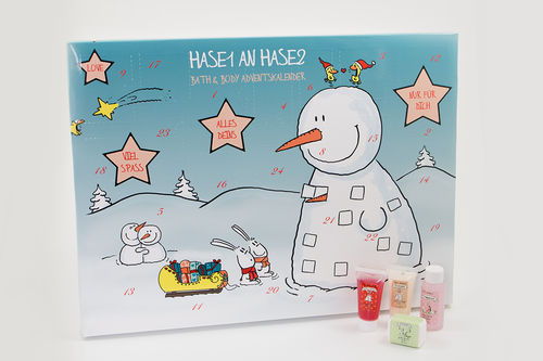Adventskalender Hase 1 an Hase 2
